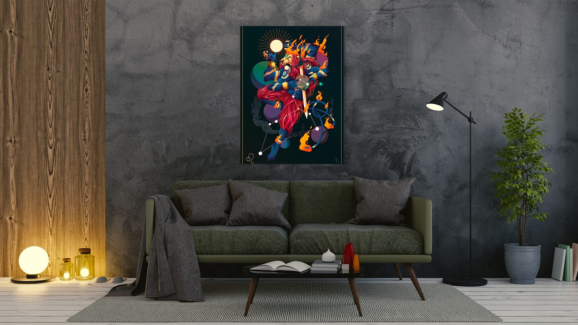 Zodiac - Leo - canvas-to-the-people - Exclusive Canvas Art Shipped Globally