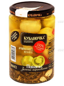 Kubanochka Tomatoes Marinated Green  680g