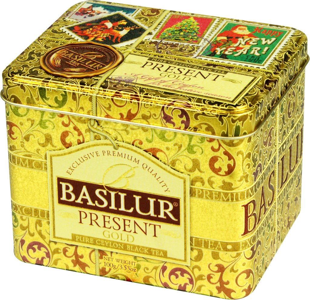 Basilur Present Gold - Black Tea, Jasmine, Coconut & Roasted Almond 100g