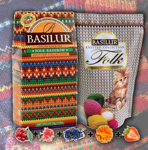 Black tea BASILUR Tea Knitten Collection Folk Rainbow