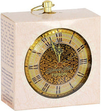 Load image into Gallery viewer, TIPSON Tea Dream Time GOLD CLOCK metal caddy 30g black leaf tea with orange, apricot and mandarin