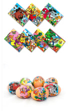 Load image into Gallery viewer, Russian Favourite Cartoons, Easter Egg Shrinking Wraps (set of 7)