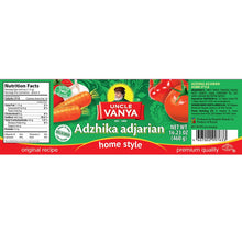 Load image into Gallery viewer, UNCLE VANYA Spicy Sauce Adjika Adzhika Home style Adjarian style 460 ml glass bottle
