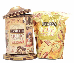 Basilur Winding Music Concert Gift Tin - Ceylon Black Tea, pineapple, ginger & orange