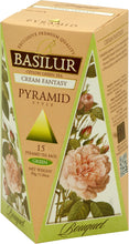 Load image into Gallery viewer, BOUQUET - Green Tea in 15 pyramid tea bags (Milk Oolong; Cream Fantasy)