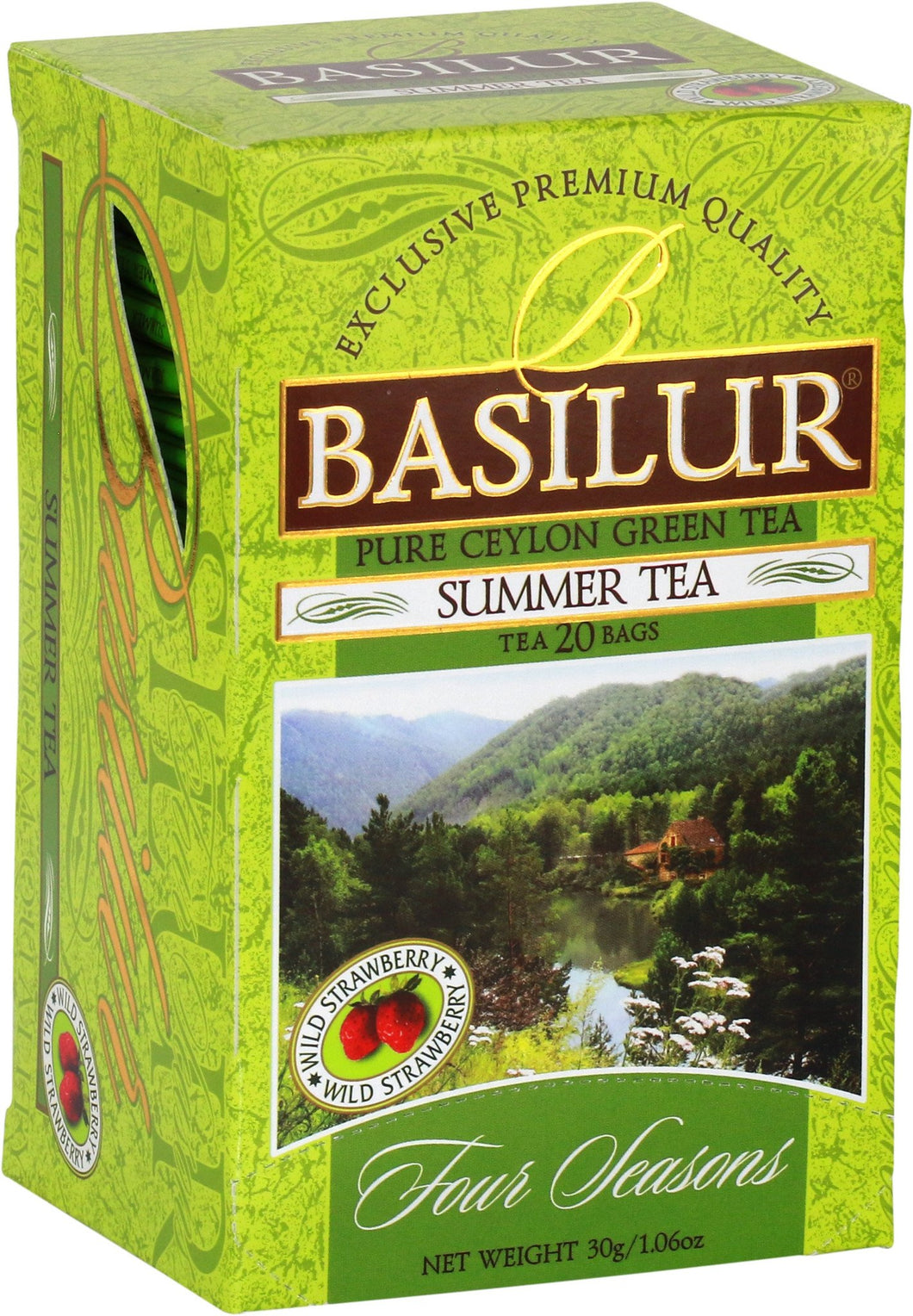 SUMMER TEA - green tea with wild strawberry, 10 or 20 tea bags