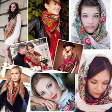 Load image into Gallery viewer, Russian shawl dark red 130x130cm