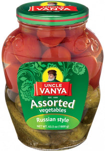 UNCLE VANYA Assorted vegetables tomatoes & cucumbers 1800ml g glass bottle