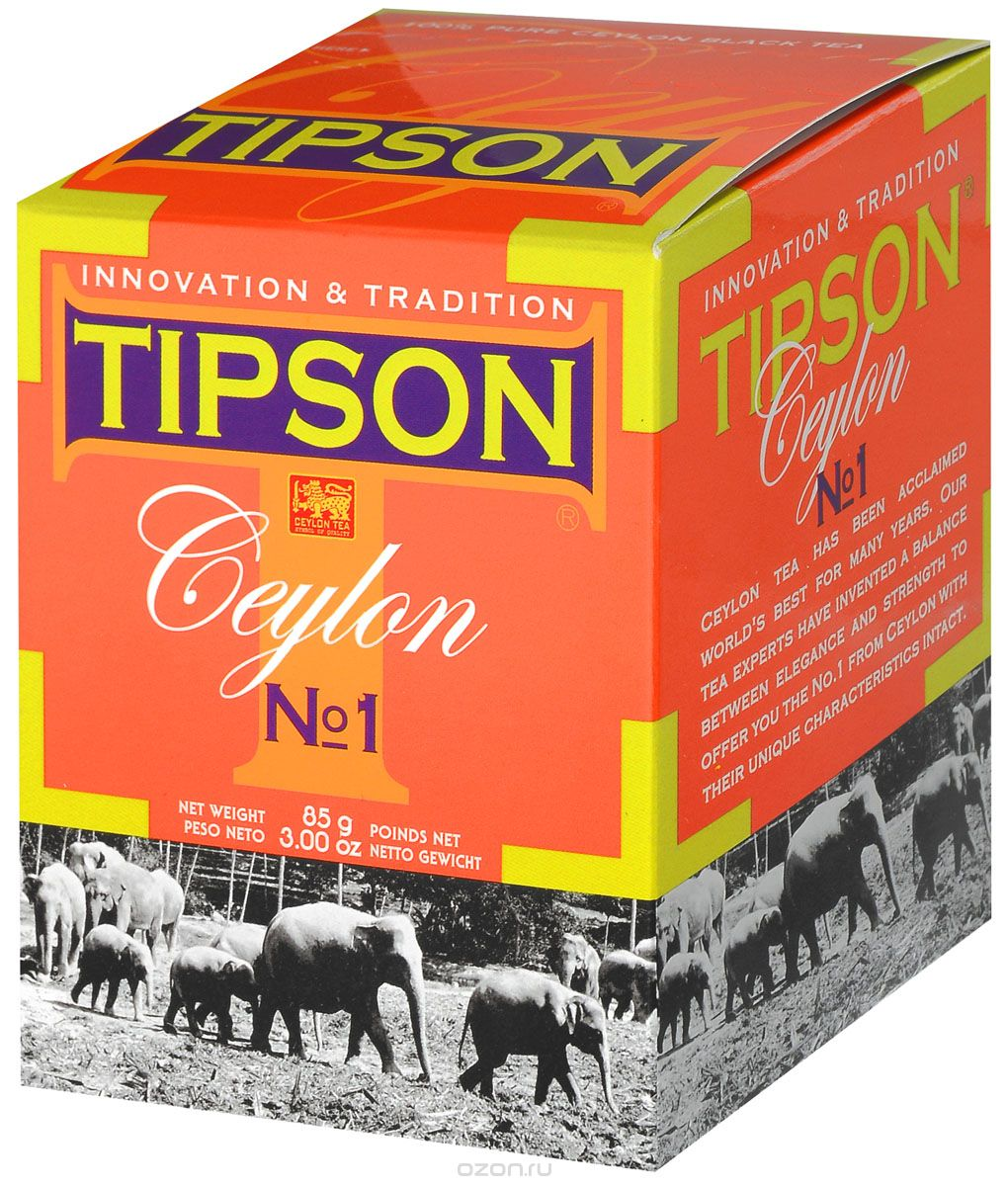 Tipson Tea - CEYLON NO.1 - PACKET  Large Leaf Tea - 85g