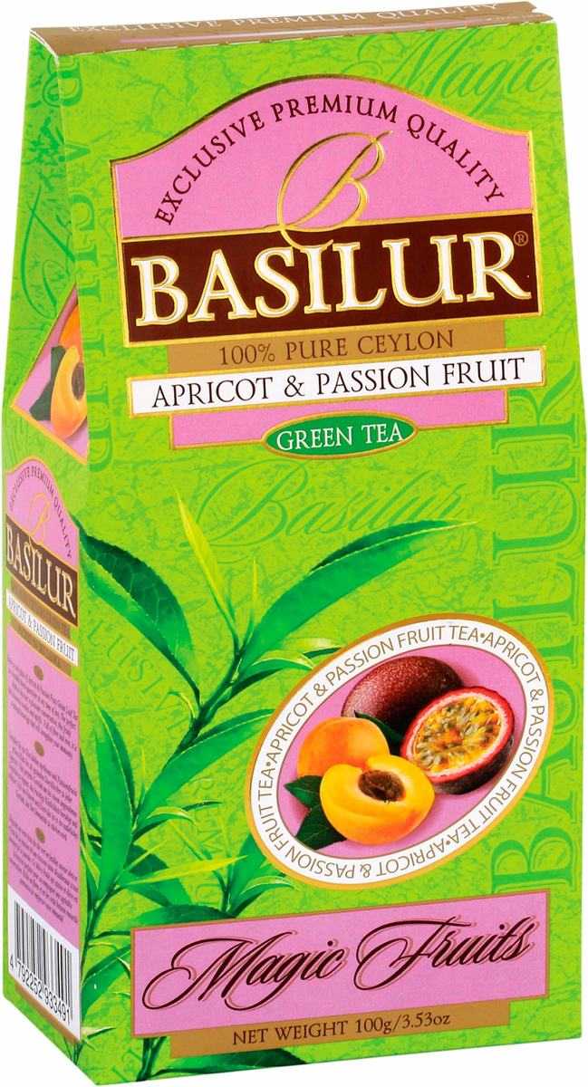 Apricot & Passion Fruit - green tea loose 100g in a carton packet