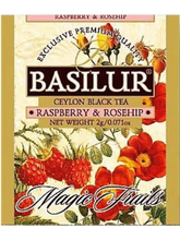Load image into Gallery viewer, BASILUR TEA MAGIC FRUITS RASPBERRY & ROSEHIP FOIL ENVELOPED 20 TEA BAGS