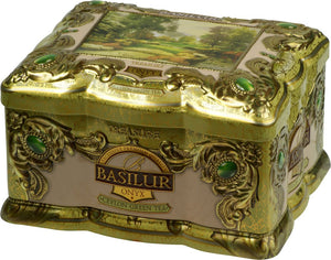 Basilur Treasure Collection Gift Tin - Onyx - Green Tea with Mango, Passion Fruit & Flower petals