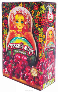Drink Russian Mors - Wild Forest Berries, Lingonberry, sea buckthorn - 3l