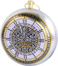 Load image into Gallery viewer, TIPSON TEA Dream Time CLOCK SIlver 30g metal caddy GIFT green tea