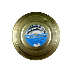 Fishka Atlantic Herring Fillet salted headless in Oil Traditional Recipe 1.3kg tin
