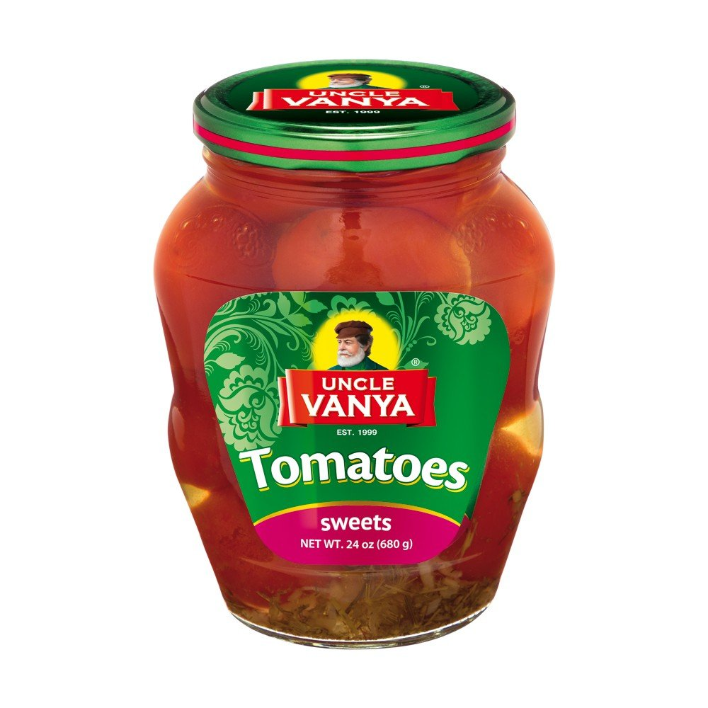 UNCLE VANYA Tomatoes Marinated sweet 680g glass jar