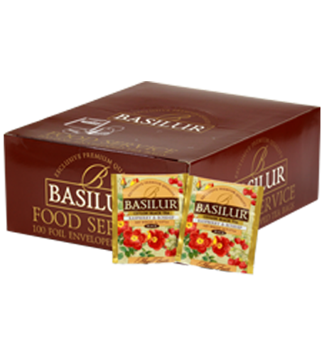 BASILUR HORECA Magic Fruits Raspberry & Rosehip 100en tea bags black tea