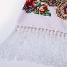 Load image into Gallery viewer, Russian shawl white 110x110cm