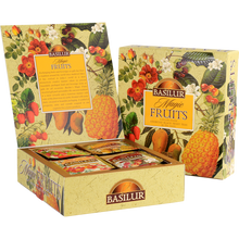 Load image into Gallery viewer, Tea Gift Box Basilur Magic Fruits Assorted Black Fruit Teas (40 sachets)
