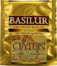 Load image into Gallery viewer, Basilur Island of Tea GOLD - Pure Ceylon Black Tea (OP1) 100 tea bags