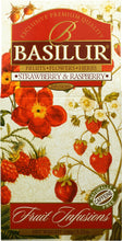 Load image into Gallery viewer, Basilur Fruit Infusions - Strawberry & Raspberry Herbal tea with berries & cherry 100g