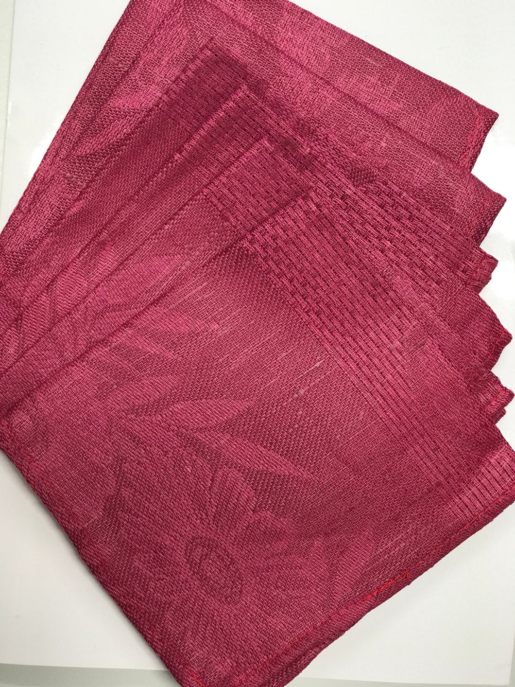 Pure linen napkins pack of 6 burgundy