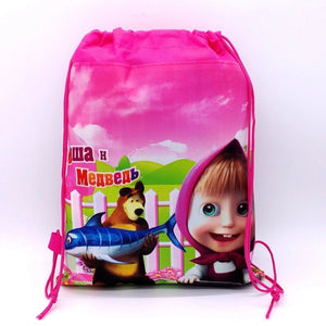 Masha & the bear school bag