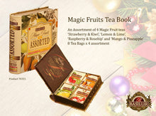 Load image into Gallery viewer, Basilur TEA BOOK magic fruits assorted 32 FOIL ENVELOPED tea bags