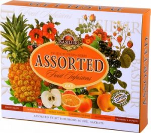 Basilur ASSORTED FRUIT INFUSIONS Caffeine Free 60 Tea Bags