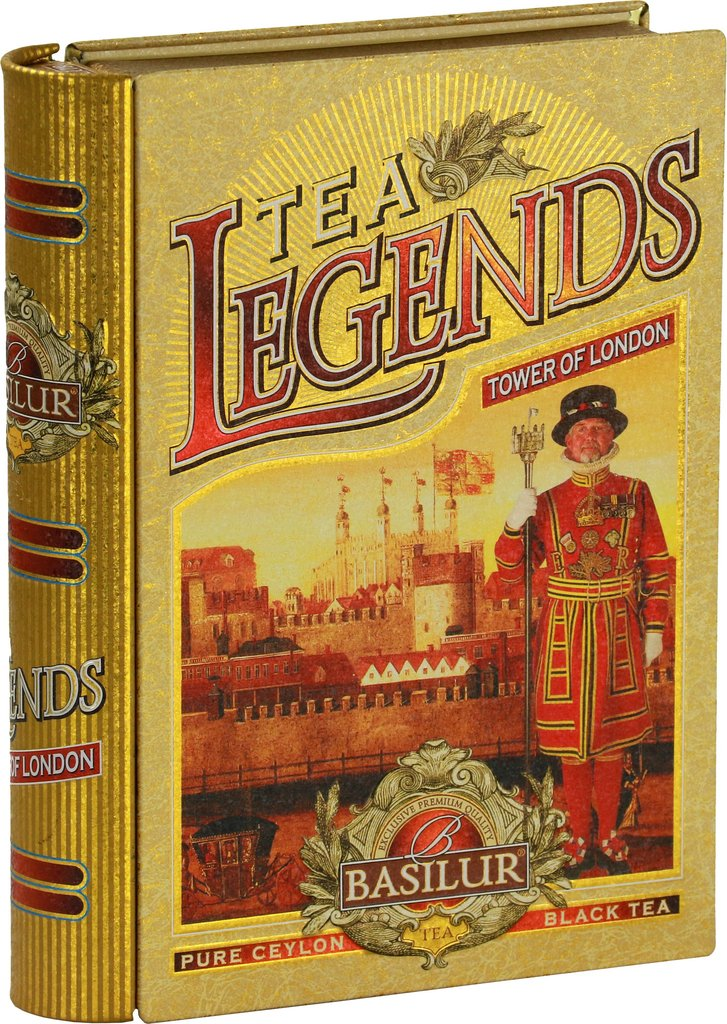 pure Ceylon English Breakfast Black Tea (FBOP) - Basilur Legends Tower of London Tea Book