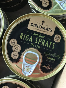 Riga sprats in oil diplomat 160g