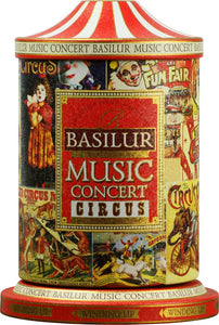 Basilur Winding Music Concert Gift Tin - Circus - Black tea with Papaya, Raisin, Vanilla & Almond