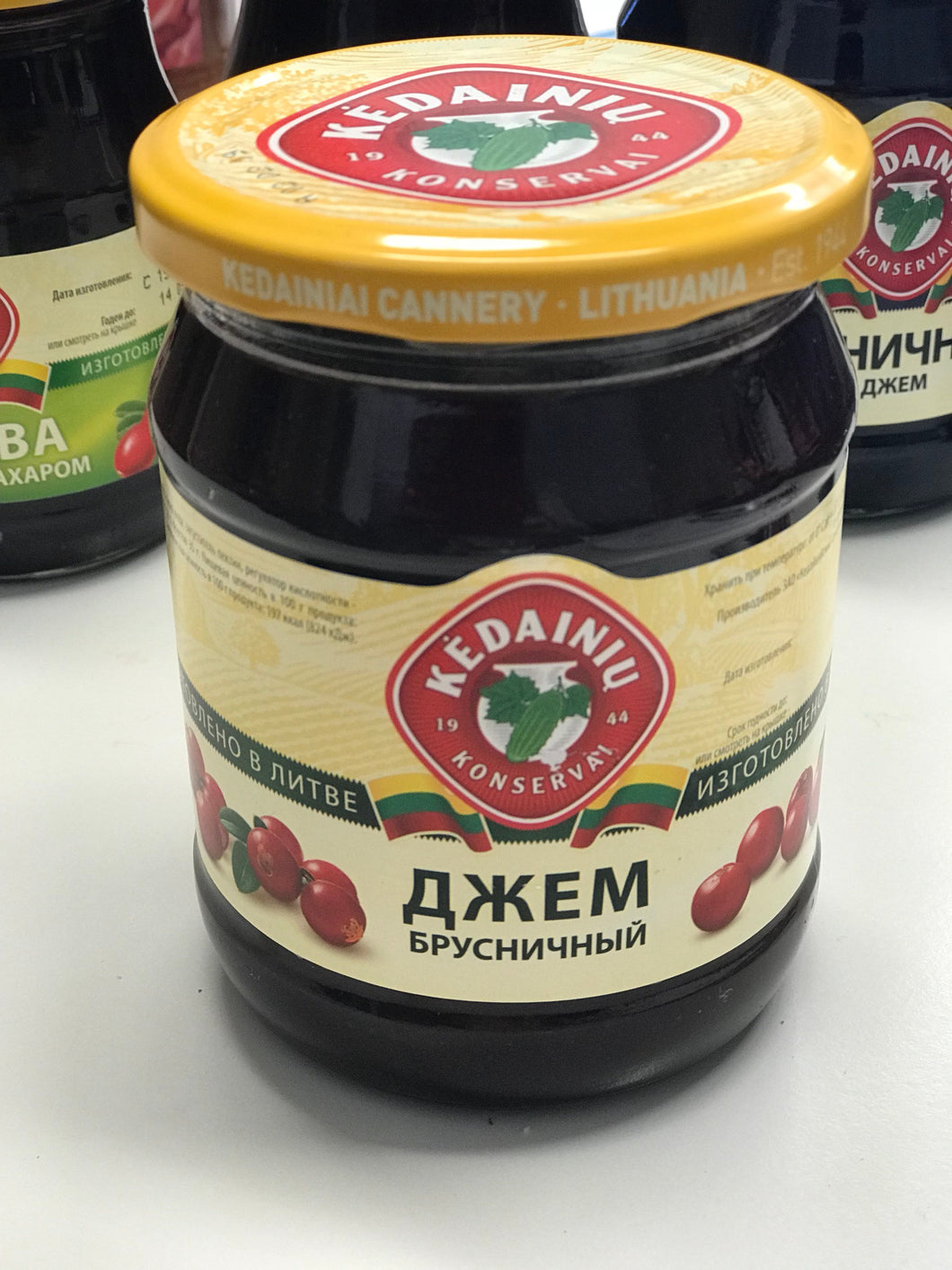 Red bilberry (lingonberry) jam 540g