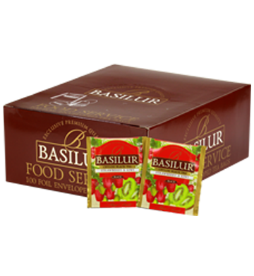 Basilur MAGIC FRUITS HORECA 100EN tea bags Strawberry & Kiwi black tea