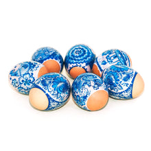 Load image into Gallery viewer, Lovely Gzhel, Easter Egg Shrinking Wraps (Set of 7)