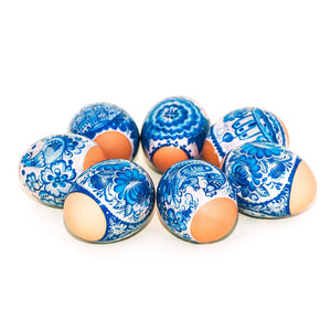 Lovely Gzhel, Easter Egg Shrinking Wraps (Set of 7)