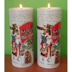 Basilur Tea Candle Christmas Tea Gift - Ceylon Black Tea, ginger, orange, pineapple 100g tin