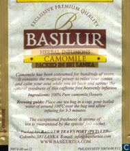 Load image into Gallery viewer, Basilur Herbal Tea Infusions - Pure Chamomile Flowers, caffeine free HoReCa 100 Tea bags