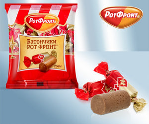 Rot Front Batonchiki 250g - Praline with milk, cacao and waffles