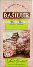 Load image into Gallery viewer, Basilur Four Seasons Spring Tea - Ceylon green tea with Cherry, Pomelo, Cornflower & Sakura 100g packet