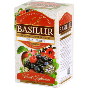 Basilur FRUIT INFUSION - FOREST FRUITS tea bags (1.8GX20ES) caffeine free