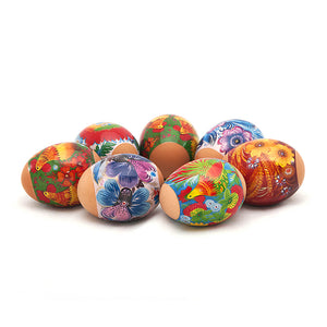 Vivid Roosters, Easter Egg Shrinking Wraps (Set of 7)
