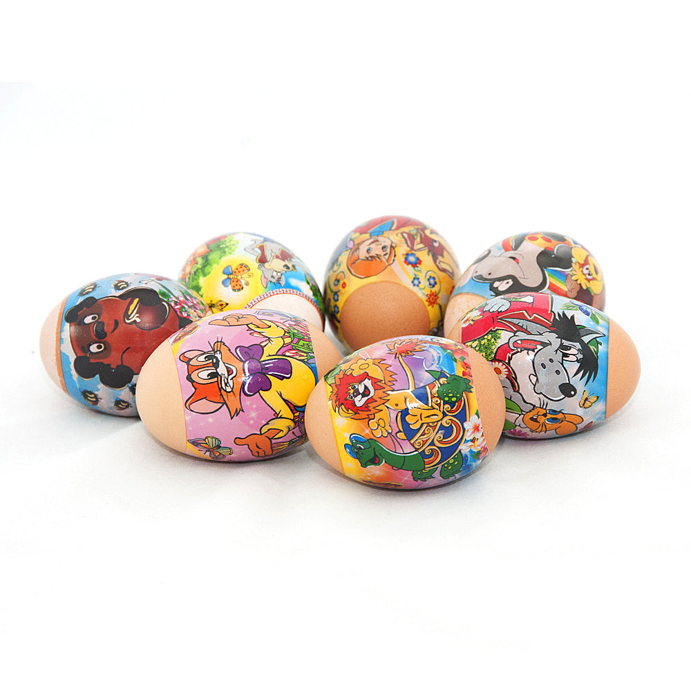 Russian Favourite Cartoons, Easter Egg Shrinking Wraps (set of 7)