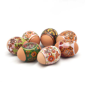 Khokhloma Sunflowers Easter Egg Shrinking Wraps (Set of 7)