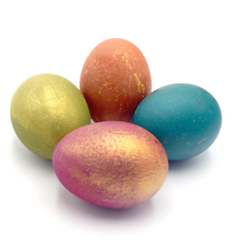 "Load image into Gallery viewer, Easter Set ""Shine of Gold"" Powder Easter Egg Dye - Red, Yellow, Blue and Green"
