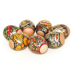 Gold Khokhloma Easter Egg Shrinking Wraps (Set of 7)