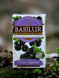 Basilur Fruit Infusion Caffeine Free - Blackcurrant & Blackberry 25 tea bags