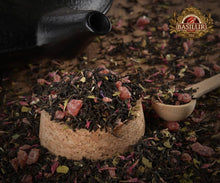 Load image into Gallery viewer, Magic Fruits - Sweet Cherry Black Loose Tea 15 pyramid tea bags Carton Packet