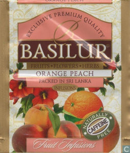 "Basilur - ""Orange Peach"" Fruit Infusions Collection - Natural Caffeine Free - 20 Sachets"