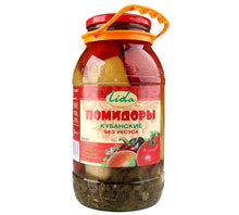 Load image into Gallery viewer, Lidia Tomatoes Kubanskie Krymsky Saratovsky without vinegar 1850g